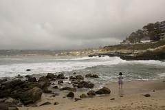 La Jolla (cheukiecfu) Tags: sea beach girl rock landscape kid child sandiego wave lajolla lone