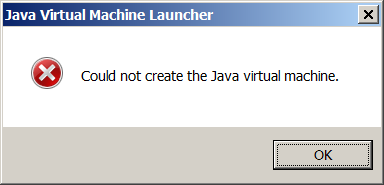 Java-Virtual-Machine-Launcher-Error