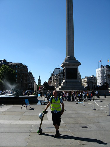 At my journey's means in Trafalgar Square, London, England