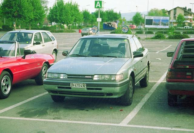 auto car schweiz switzerland taxi zurich 1989 mazda 626 zürichtaxi archiv1989