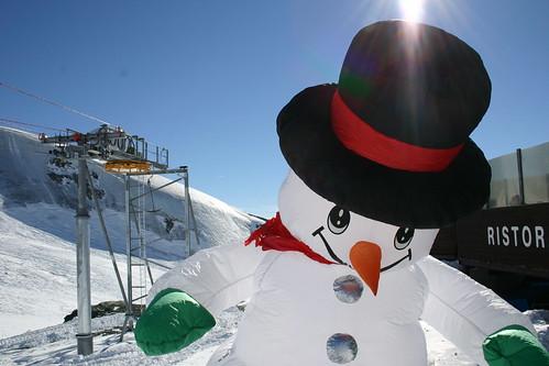 Snowman on the Slopes of Zermatt