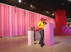 PINK NIAGARA mural CSW Warsaw 04 (VonMurr) Tags: pink art lines geometry exhibition gradient warsaw pinknotdead verticalstripes maurycygomulicki
