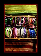 The Bangle Box (shubhangi athalye) Tags: india color glass colorful spectrum box indian traditional border cotton bombay stillife mumbai ethnic saree arrangement tabletop bangles handwoven maharashtrian chudiyan banglebox