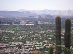 View of Phoenix Arizona from the Mountains