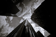 pierce (davemacintosh) Tags: nyc blackandwhite streetphotography touchthesky