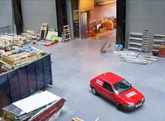 Tate Modern 'bridge' (JoeDM) Tags: tatemodern rubbish waste skip bankside redcar banksidepowerstation