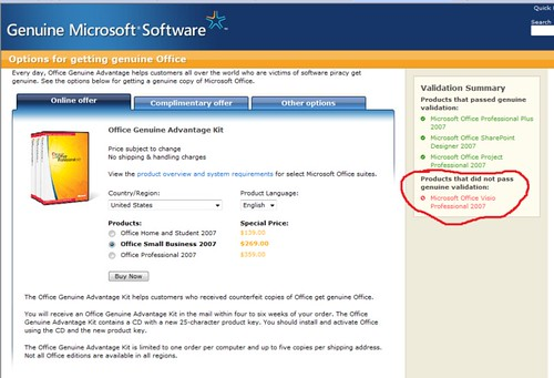 Fun with Microsoft's Genuine Office Validation…