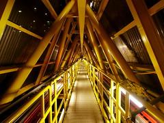 Bridge (Strocchi) Tags: bridge yellow night industrial perspective tunnel cable ponte giallo northsea future far notte futuristic prospettiva cavi maersk lontano oilandgas halfdan