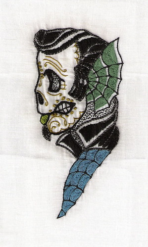 Maori Psychobilly Hand Embroidered Tattoo