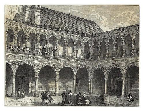 002-Claustro del convento de La Merced en Mexico-Les Anciennes Villes du nouveau monde-1885- Désiré Charnay