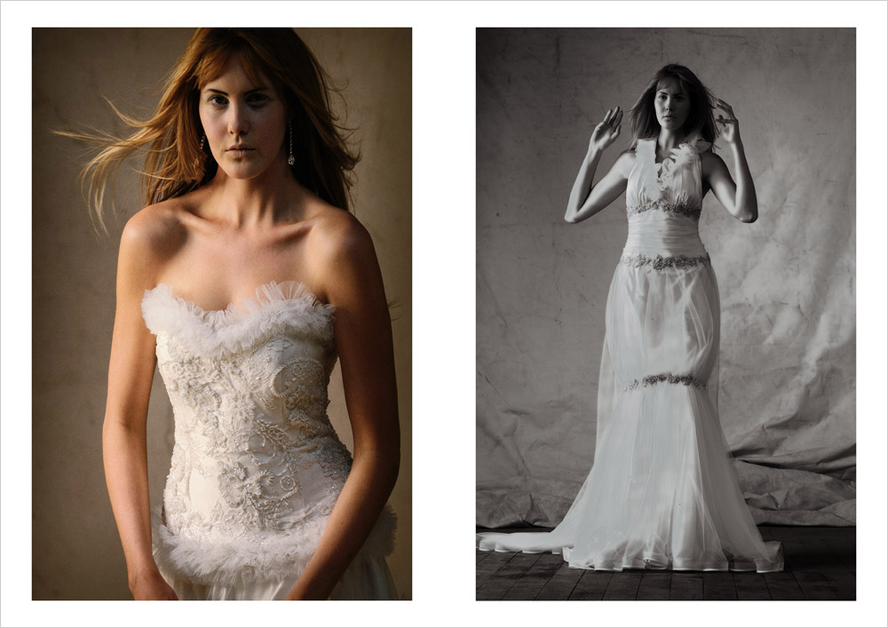 Editorial Bridal Fashion, White Wedding Gowns, Catherine Colubriale Couture, Sydney Australia