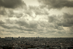 October / Paris / France (fightingtheboss) Tags: city paris france architecture clouds grey october cityscape gloomy sacrecoeur fromabove pigalle abesses