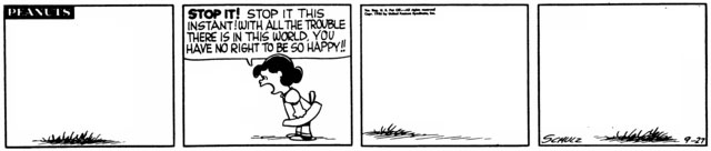 Peanuts Minus Snoopy with Lucy