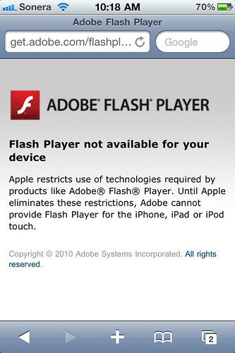 Adobe Flash Player & Apple