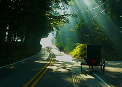The Long Way Home (carpediemskw) Tags: amish sunbeams