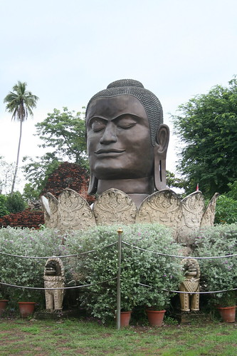 The biggest Buddha head I saw on my travels