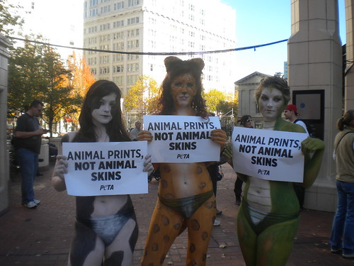 Girls Model for Animal Rights