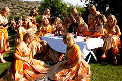 My clones ball (MeFind) Tags: girls party people orange white me girl ball myself table outside dad dress wine sweden multiplicity dresses clones 17 fest clone memyselfandi crowded seventeen alot tjrn thebigone mefind i viksdegrde mefinds