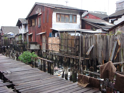 Tanjung Pinang houses on stilts...