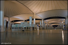 Jeddah Hajj International Airport at night