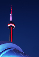 midnight blue (serhio) Tags: blue light red sky toronto ontario canada color colour tower night cn dark sony centre illumination cybershot canadian led spire explore national dome midnight skydome rogers sergei dscw1 yahchybekov serhio