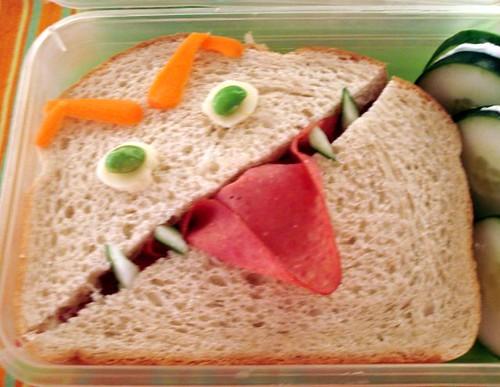 angry sandwich closeup