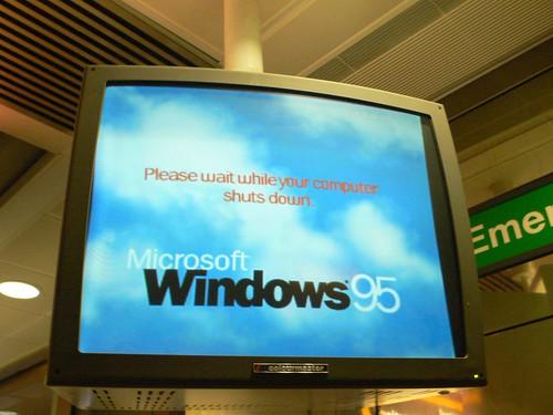 Windows crashing on the British airport TV screens