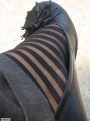 stripes (leciram) Tags: stockings shoes stripes footfetish maricel ballerine feetish leciram aspiranteimelda
