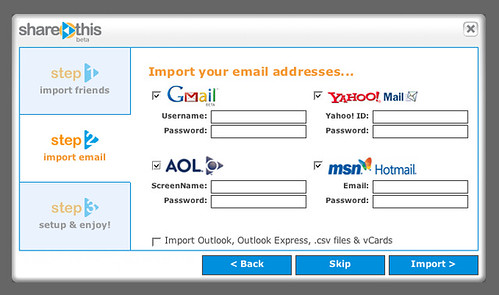 ShareThis | Import your addresses...