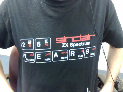 camiseta spectrum 25 aniversario