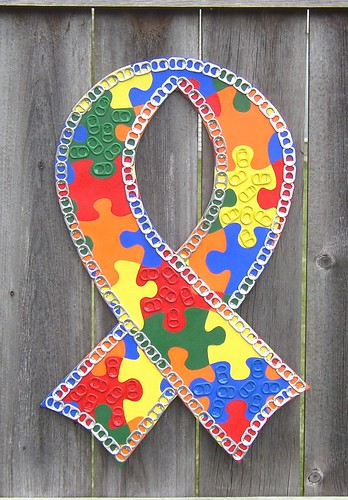 Autism Awareness Ribbon by Cheryl's Art Box