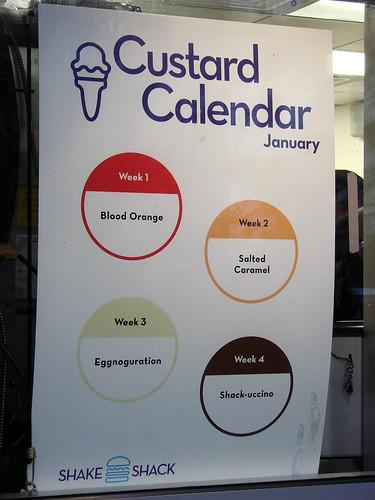 Jan 2009 Custard Calendar