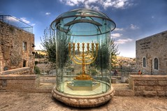 The Golden Menorah - slightly revisited (zorroz) Tags: israel nikon jerusalem hdr oldcity menorah photomatix sigma1020 photomatixpro ysplix nikond300 hdrfrom5jpegs