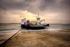 The Sandbanks Chain Ferry (Terry Yarrow) Tags: sunset sea ferry evening coast transport chain dorset sandbanks englanduk explored goldstaraward