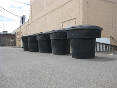 Lots of garbage... (Thrash 'N' Trash Prodcutions) Tags: trash dumpster truck garbage can bin cart refuse recycle recycling carts bins toter toters