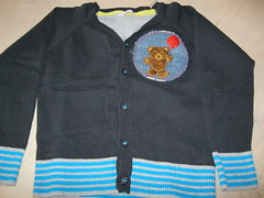 Bear vest for Zino (A little bit of stitchin') Tags: satinstitch crewelembroidery longandshortstitch dmcthread