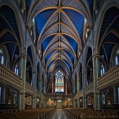 progress (hgviola ) Tags: blue ontario canada church nikon ottawa kathedrale kirche notredame tokina bleu blau eglise hdr cathedrale biru kanada d80 tokina1116 kereja