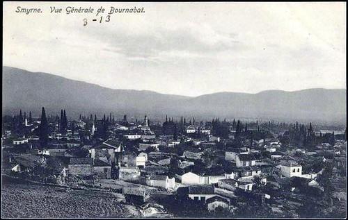 Karpostallarda yangından önce İzmir, Bornova