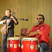 JB on conga drums and Randy Strom on 12-string guitar, 2009 3rd annual Now & Then event.