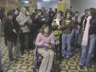 Público presente en acto de ganador de Edson Franco