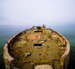 ghost ship (/moose78) Tags: california sea santacruz history beach water fog concrete outside outdoors bay nikon ship ghost wwi montereybay wideangle landmark adobe paloalto 1919 tanker aptos lightroom oiltanker cementship sigma1020mm ghostship seacliffstatebeach fav10 sspaloalto d80 usspaloalto nikond80