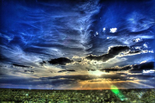 Dusk after the Ditch -- hdr rebel high cloud april home mattspov suprise wonder kathleen highdesert desert