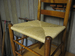ladder-back chair seat 2 (jurrble) Tags: rushseat