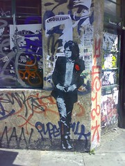 Nick Drake Stencilized in Hoxton (Moblog Roel) Tags: uk streetart london pasteup graffiti stencil hoxton jef pochoir roel nickdrake jefaerosol arosol