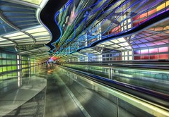 The Underground Peoplemover to the International Terminal (Stuck in Customs) Tags: world travel light chicago art colors beautiful station electric modern train underground photography photo illinois airport nikon bravo colorful pretty technology dynamic gorgeous dream fresh ohare peoplemover divine professional adventure hong kong international chrome photograph transit stunning top100 charming foreign fabulous technique hdr tutorial trey cyberpunk artisitic engaging travelphotography ratcliff hdrtutorial stuckincustoms treyratcliff