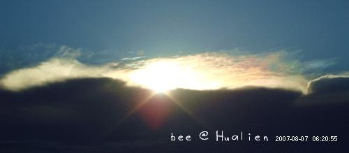 花蓮石梯坪海邊的日出---颱風來前的寧靜 (4)
