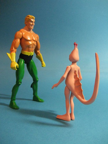 Aquaman and Boy Sea Monkey