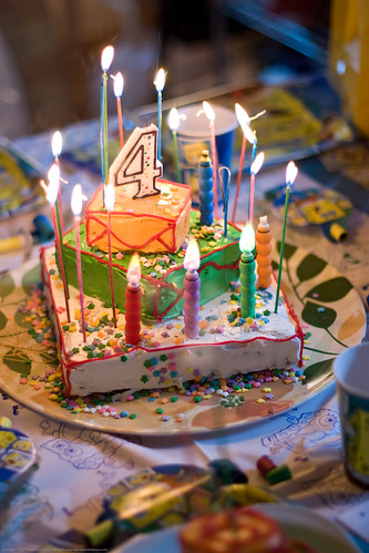 KD's 4th bday: scary cake lit