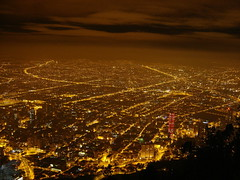 Bogota (Colombia) Nocturna - Night view (CAUT) Tags: night colombia bogota view nocturnal bogot nocturna monserrate golddragon mywinners anawesomeshot porbogot