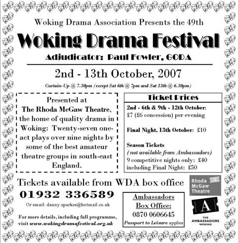 WDA Festival 2007 News Ad